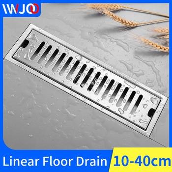 Linear Floor Drains Bathroom Shower Floor Drain Stainless Steel Tile Insert Channel Drainer Cover Anti-odor Floor Waste Grates