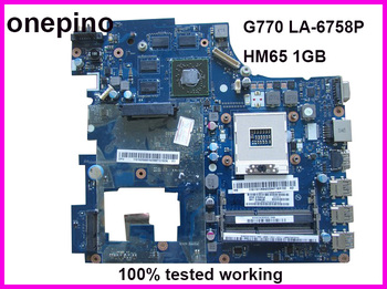 PIWG4 LA-6758P fit for Lenovo G770 laptop motherboard 17'' HM65 PGA989 1GB GPU tested working