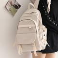 Einfarbig Weibliche Rucksack für Mädchen Koreanische Große-kapazität Schule Tasche für Teenager Mädchen Junge Studenten Schule Rucksack College neue