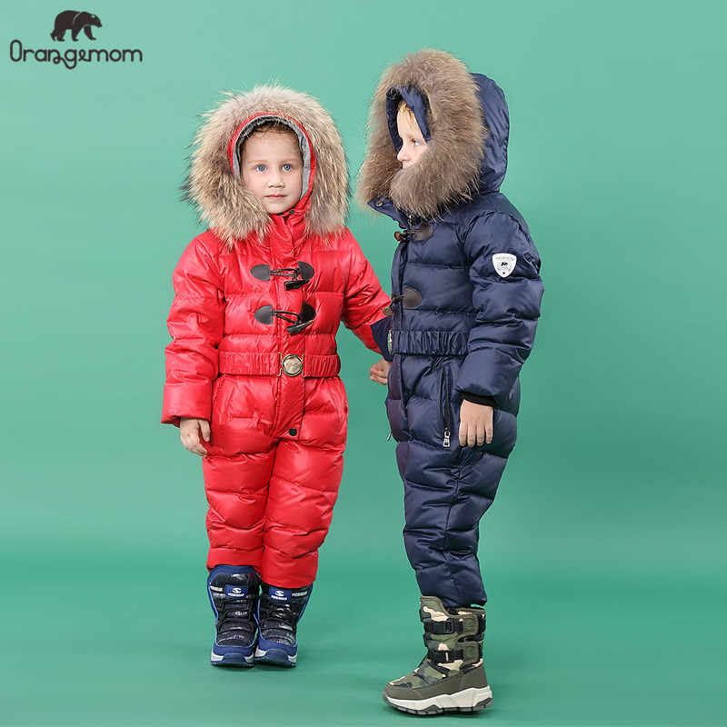 2019 Orangemom official store winter Children's Clothing down boys clothing , kids outerwear & coats for Girls jackets snow wear