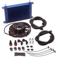 Novo 13 linha an10 universal motor transmissão de óleo cooler & tubo mangueira & kit montagem