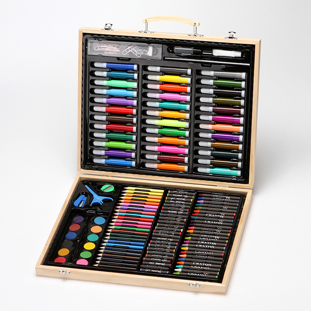150 Piece Deluxe Art Set Art Supplies For Drawing Painting Sketching Tools And More In A Case Oil Pastel Paint Pen Kit