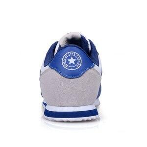 Image 3 - קל משקל סניקרס לגברים תחרה עד נעליים יומיומיות איש חיצוני הליכה זכר דירות כחול אפור ריצה הנעלה מאמני 8 8.5 9 9.5