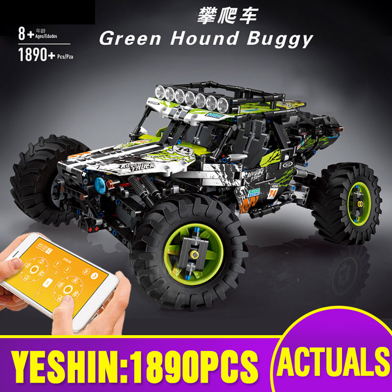 Yeshin Technic Car Toys The MOC-19664 4WD RC Buggy Car Compatible With Lepining Building Blocks Assembly Kit Kids Christmas Gift