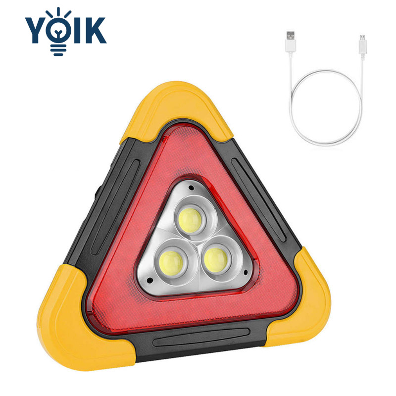 Solar Car Warning Lamp Driving Safety Reflective Lighting Outdoor Emergency Work Lamp Roadblock Lights Charge the Phone