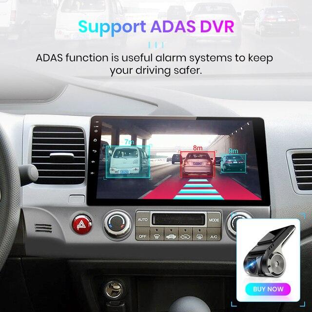 Junsun V1 2G + 32G Android 9.0 DSP Radio samochodowe multimedialny odtwarzacz wideo dla Honda Civic 8 2005-2011 nawigacja GPS nr 2din 2 din dvd