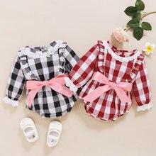 Боди для маленьких девочек комбинезон осенняя одежда с круглым
