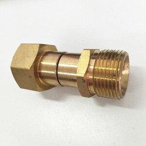 Image 5 - Hnyri arruela adaptador giratória m22 fêmea com m22 14mm rosca de bronze macho conectar à mangueira de pressão ou arma de espuma máquina de lavar a tubulação