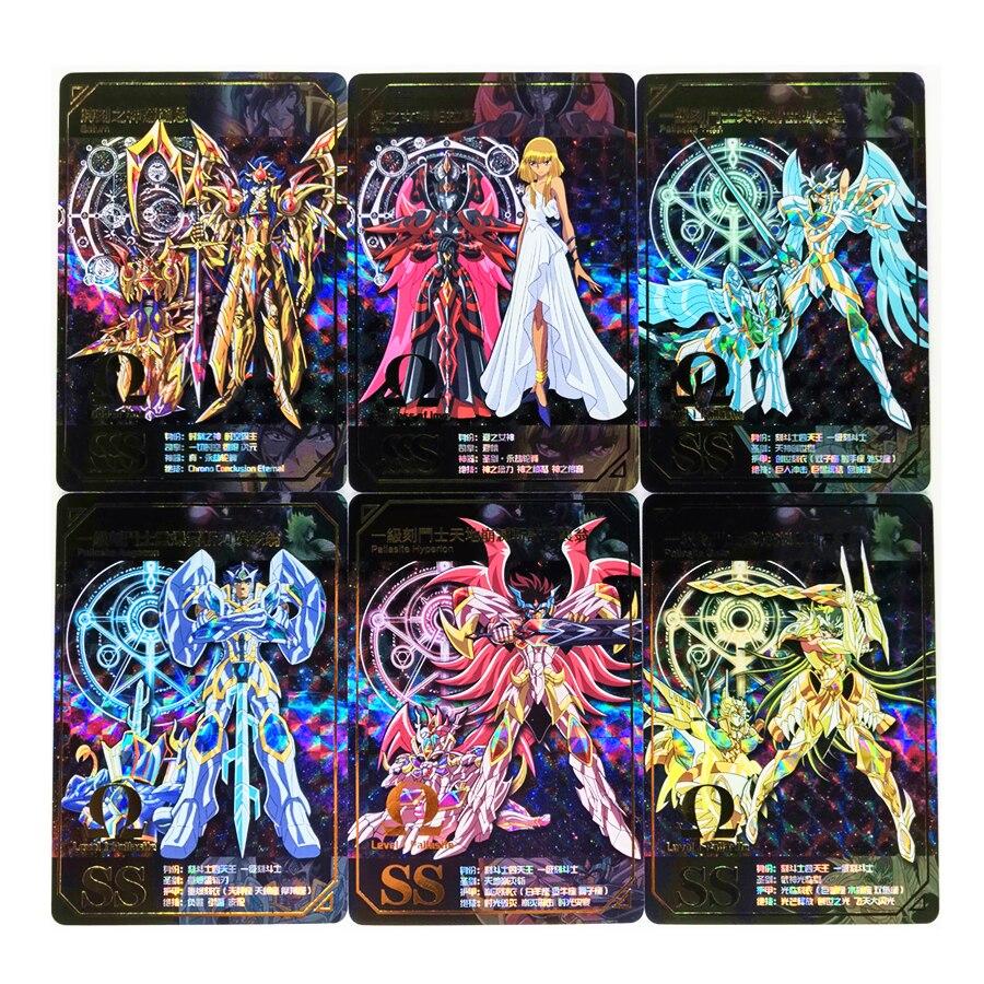 55 pcs set saint seiya brinquedos hobbies passatempo colecionaveis do jogo colecao anime cartoes