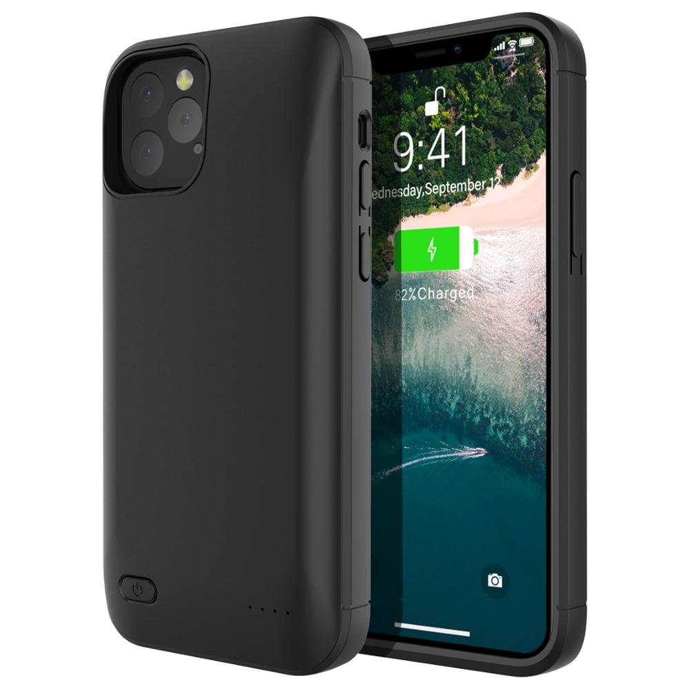 Battery charger case 4000mah external power bank charging cover for iphone xs 7 8 plus 6 6s battery case
