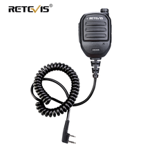 Retevis HK008 2 Pin Rechargeable Mic Speaker Adjustable Volume For Kenwood Baofeng UV5R 888S Retevis RT22 RT3S RT3 H777 C9121A(China)