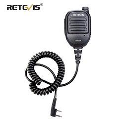 Retevis HK008 2 Pin akumulator mikrofon głośnik regulowana głośność dla Kenwood Baofeng UV5R 888S Retevis RT22 RT3S RT3 H777 C9121A