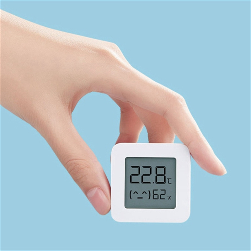 [Newest Version]Mijia Bluetooth Thermometer 2 Wireless Smart Electric Digital Hygrometer Thermometer 1Pcs Work With Mijia APP