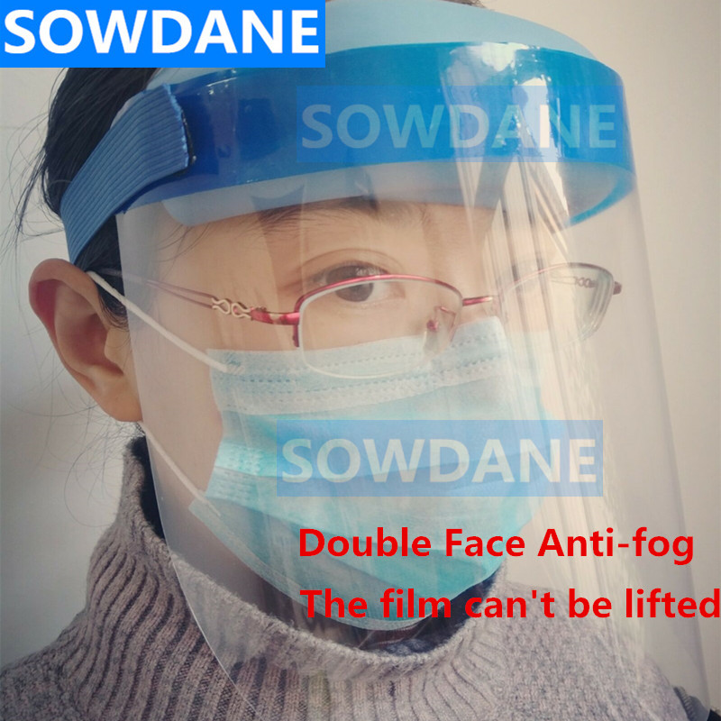 Dental Double Face Anti-fog Film Adjustable Full Face Shield Frame Plastic Protective Film Protection Oral Care
