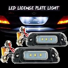 2pcs Error Free LED License Plate Light A2518200166 For Mercedes X164 W164 W251 AMG GL ML R X Class 2006 2007 2008 2009-2012 2pcs oem fit xenon white error free 18 smd led license plate lights for mercedes c cls cla e ml m gl s sl slk class etc