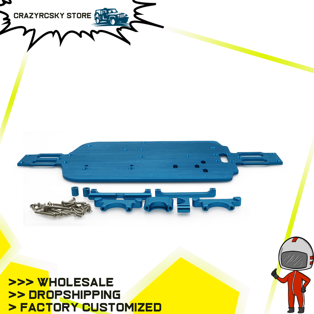 Alloy Chassis Plate V2 For Rc Hobby Model Car 1/18 Wltoys  A959 A969 A979 K929 Etc