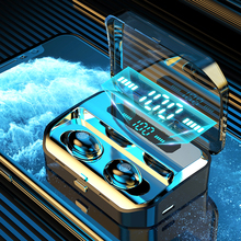 Wireless earphones TWS Bluetooth Earphones 5.0 with Mic Sports Waterproof Headsets Touch
