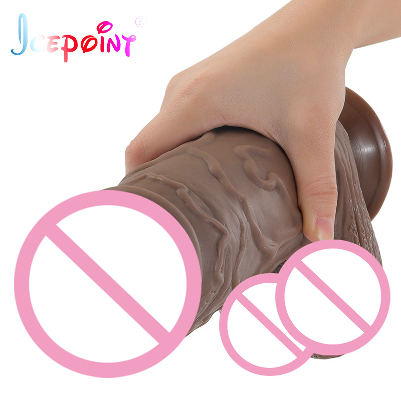 ICEPOINT Size 260*70mm huge thick flesh Dildo, realistic penis large Dong Big Cock Dick Adult Women Erotic Insert Sex Products