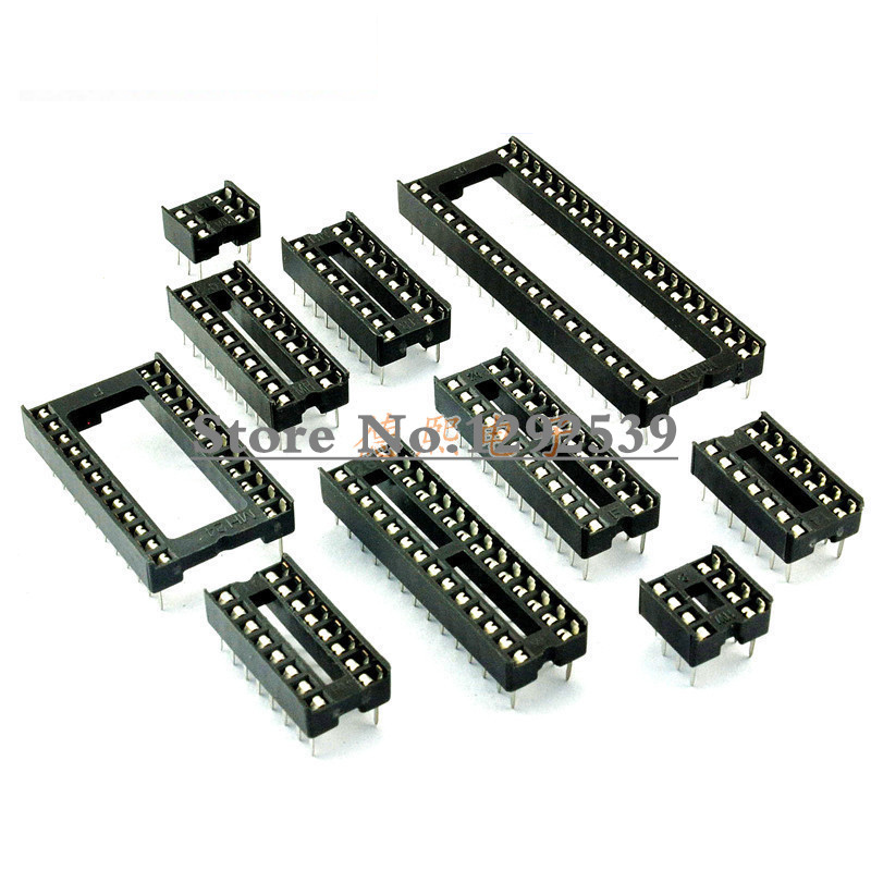 10PCS IC Sockets DIP6 DIP8 DIP14 DIP16 DIP18 DIP20 DIP28 DIP32 pinos do Conector do Soquete DIP 6 8 14 16 18 20 24 28 32 pin|Circuitos integrados|   -