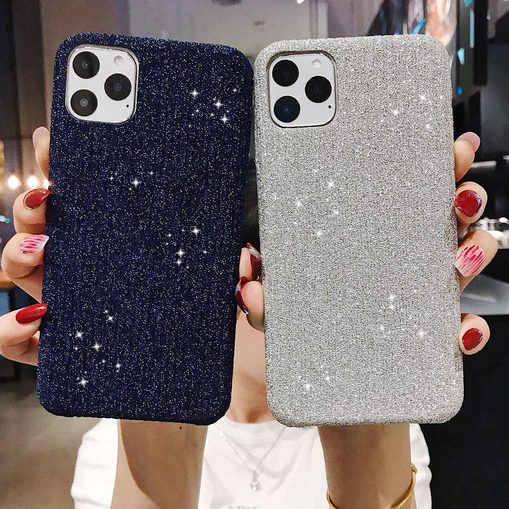 Fashion Gold velvet Phone case For iPhone 11 11pro 11Pro Max X XR XS Max 8 7 6 6S Plus Glitter Soft Silicone Anti shock Cover
