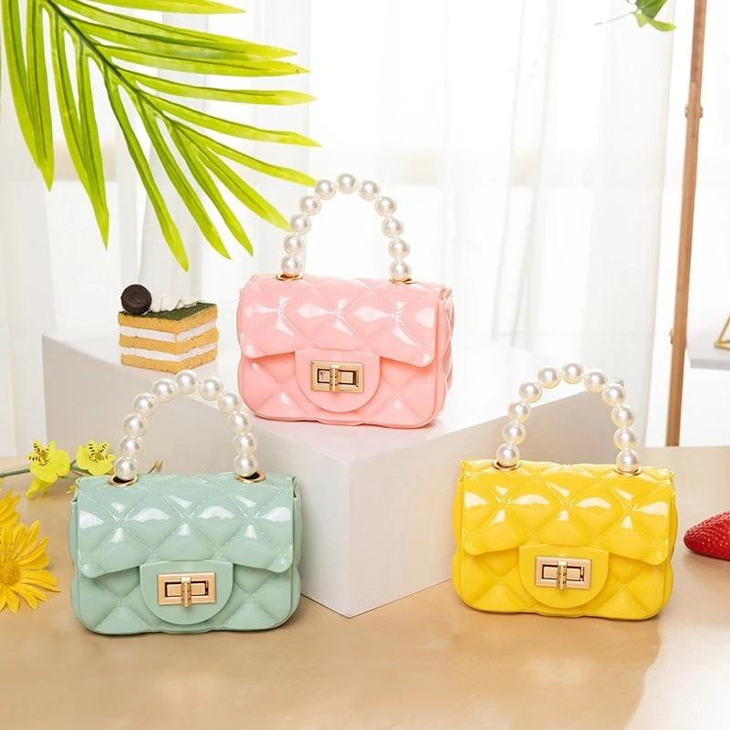Details about  /Fashion Women Pearl Beaded Chain Shoulder Crossbody Bag Plush Messenger Handbag