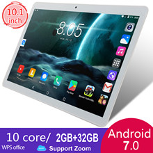 KIVBWY tablet PC da 10.1 pollici 2 + 32GB di ROM 1280*800 IPSl SIM Card 4G LTE FDD wifi Android 7.0 tablet 10.1(China)