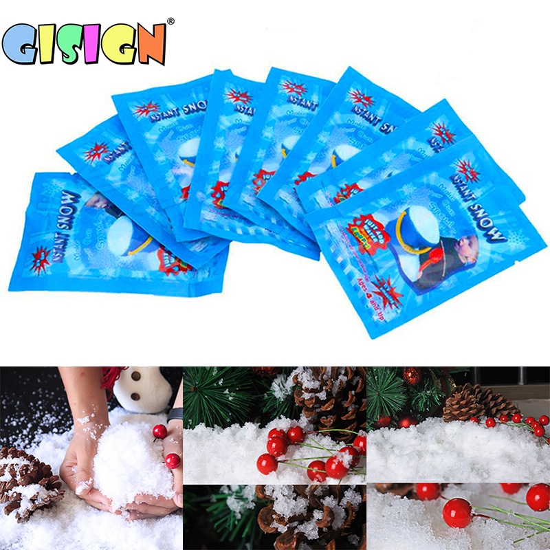 Fake Magic Snow For Charms Slime Accessories Modeling Clay Snow Powder Filler For Polymer Mud Christmas Decor Toys Supplies