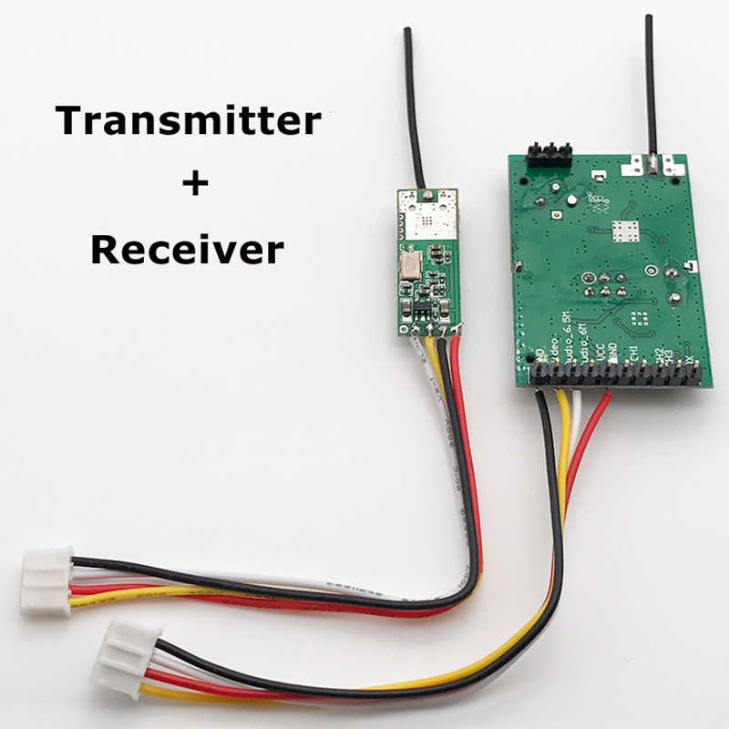 1Set 2.4Ghz 500MW Wireless Transmitter + Receiver Stereo Audio Video Transmission Module for RC FPV Drone Aerial Photography