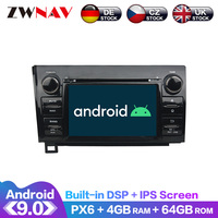 Android 9 IPS Screen PX6 DSP For Toyota Sequoia / Tundra 2010 2011 2012 Car DVD Player GPS Multimedia Player Radio Audio Stereo