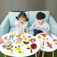 Juguetes tangram rompecabezas de animales 3d juguetes de madera para niños juegos creativos rompecabezas de Aprendizaje Temprano juguetes educativos