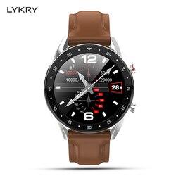 LYKRY L7 ЭКГ Смарт часы спортивный мужской браслет вызова циферблат сердечного ритма кровяное давление часы 24 вида языков для Android iOS
