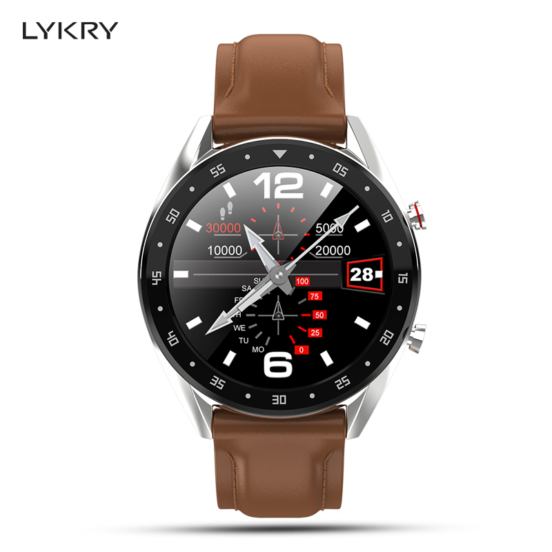 LYKRY L7 ECG Smart Watch Sports Male Bracelet Call Dial Heart Rate Blood Pressure Watch 24 Kinds Languages For Android IOS