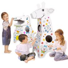 DIY Graffiti malowanie 3D Model dinozaura malowanie edukacyjne zabawki dla dzieci zabawki montessori rzemiosło kolorowy obraz numerami tanie tanio BLUEBEE 2 ~ 4 Lat 5 ~ 7 Lat 8 ~ 13 Lat 14 lat i więcej Dorośli Zwierzęta i Natura 0229 Chiny certyfikat (3C) NO Swallow