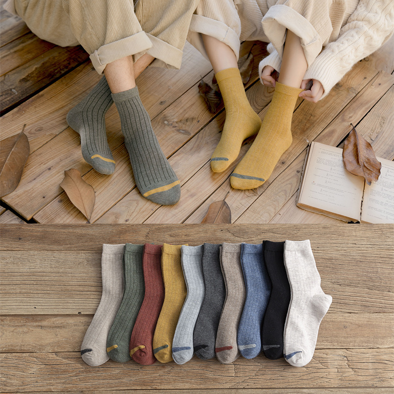 4pair/lot Autumn Winter Cotton Women Christmas Socks Fashion Breathable Couples Crew Socks Comfortable Casual Socks Gilrs 1012
