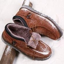 купить Super Warm Men Winter Boots Quality Nubuck Leather Snow Boots Fur Plush Winter Shoes For Men Lace Up Outdoor Boots Shoes дешево