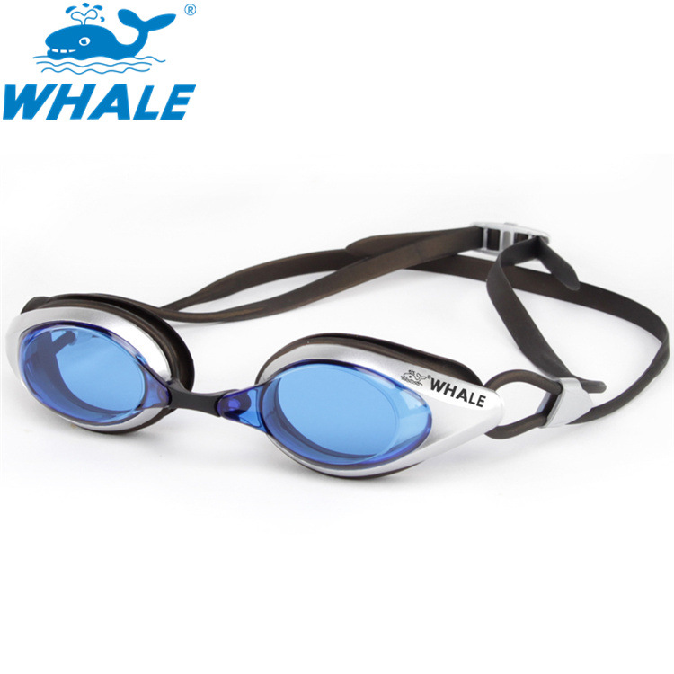 Whale Goggles High-definition Anti-fog Swimming Glasses Profession Adult Racing Silica Gel Race Mirror Customizable