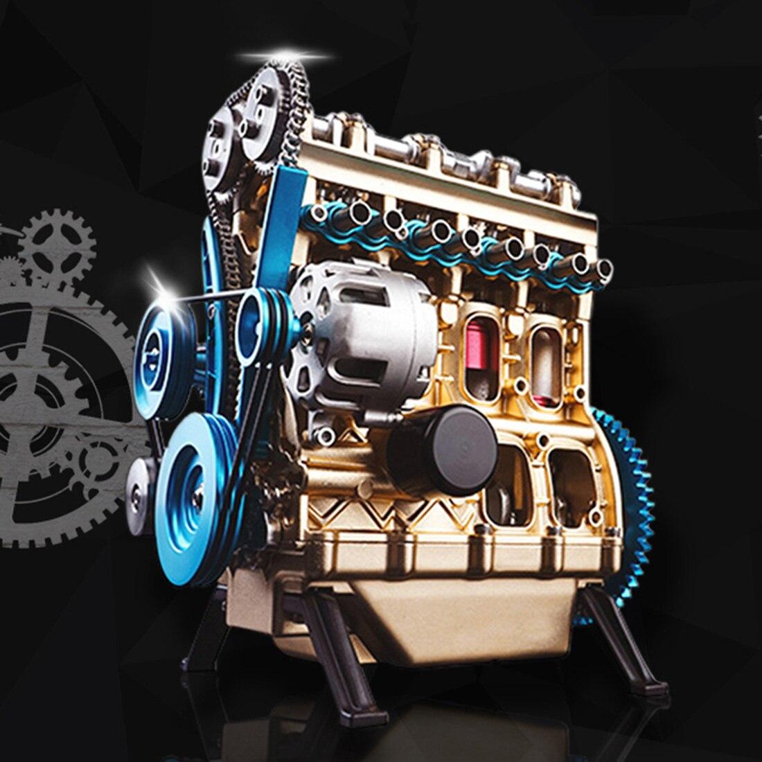 Высоко рекомендуемый полностью металлический автомобиль мини сборный встроенный четырехцилиндровый двигатель модель игрушки для взрослых