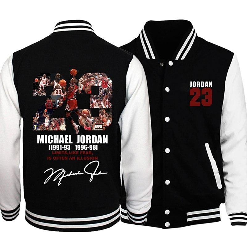 2020 homens uniforme de beisebol casaco outono inverno jaqueta jordan 23 impressão streetwear casual agasalho manga longa camisola hip hop casaco