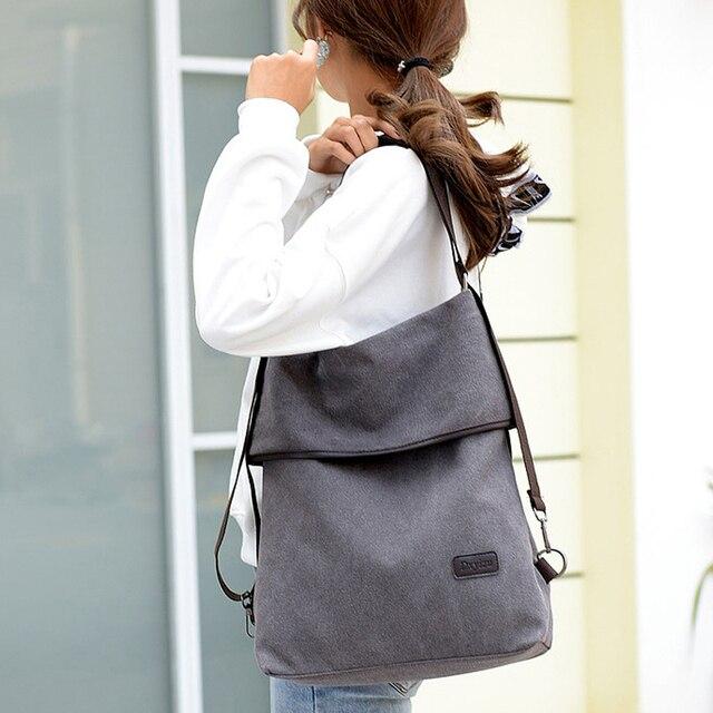 Canvas Bag Tote Bag Bagpack MultiFunction Canvas Back pack Women Sac Bandouliere Femme Bags For Women 2019 Mochila Feminina K042