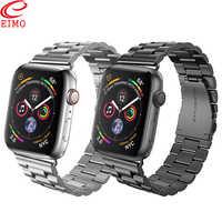 Correa EIMO para Apple Watch 4 iwatch banda 42mm 44mm 38mm 40mm reloj correa de acero inoxidable accesorios de correa de reloj