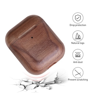 Image 4 - Wooden Case For AirPods Case For AirPods 2 Cover Nature Wood Original Handcrafted Protect Cover For Airpods Premium Leather Sewn