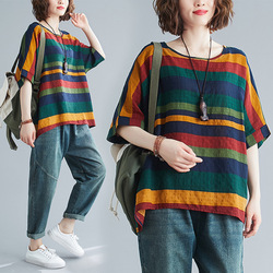 Hot Style Boutique Women's Printing T Shirt Fashion Loose Big Yards Batwing Sleeve Boutique Tops for Women