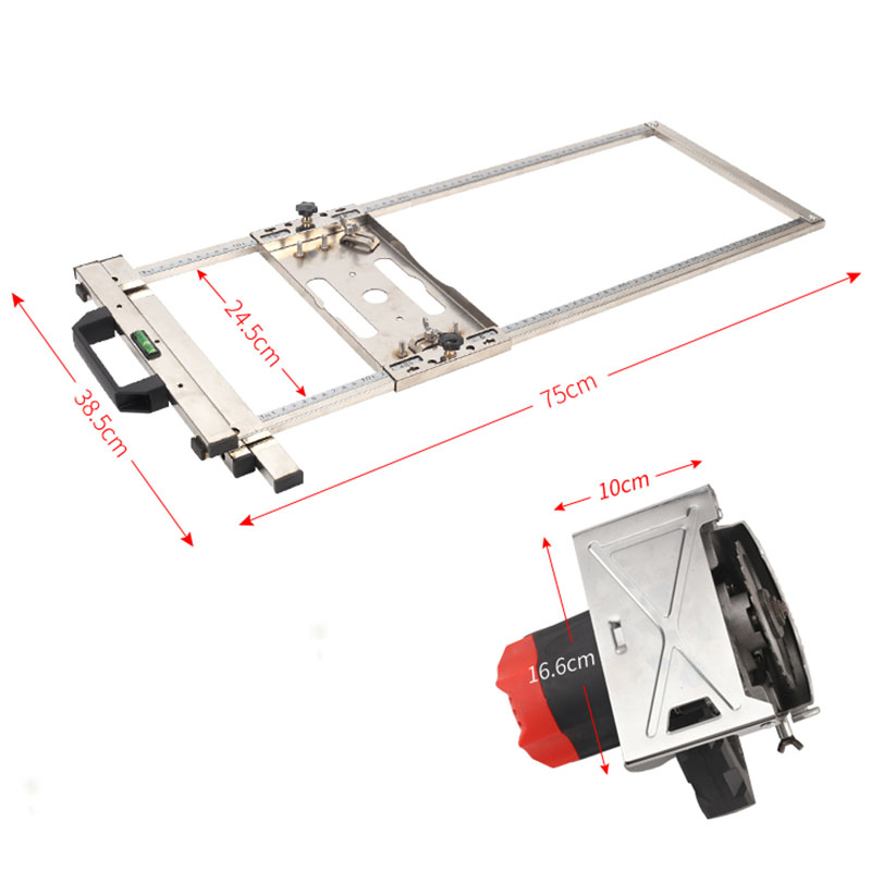 Tools : Multi-Function Edge Guide Positioning Cutting Board for Electricity Circular Saw Trimmer Marble Machine Woodworking Tool