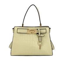 High-quality womens handbags Korean stone painted portable lock texture single shoulder diagonal bag