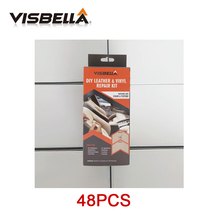 VISBELLA 48pcs/ctn Leather Vinyl Repair Kit Glue Color Paste Rips Fix for Car Hand Tool Sets Seat Clothing Boots