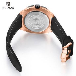Image 5 - Watches Men Sports Watches Military  Quartz Wrist  Men  Watch Waterproof Clock Male Relogio Masculino Silicone Black