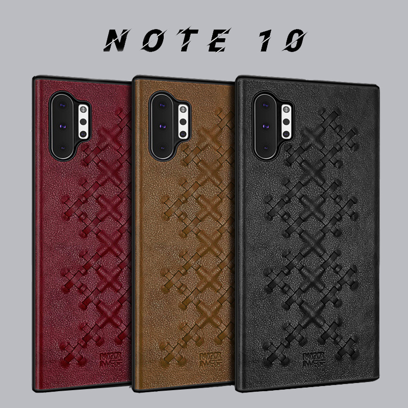 Note 10+ Case PU Leather Vpower Luxury Cover For Samsung Galaxy Note 10 Plus Case Leather Business Back Cover