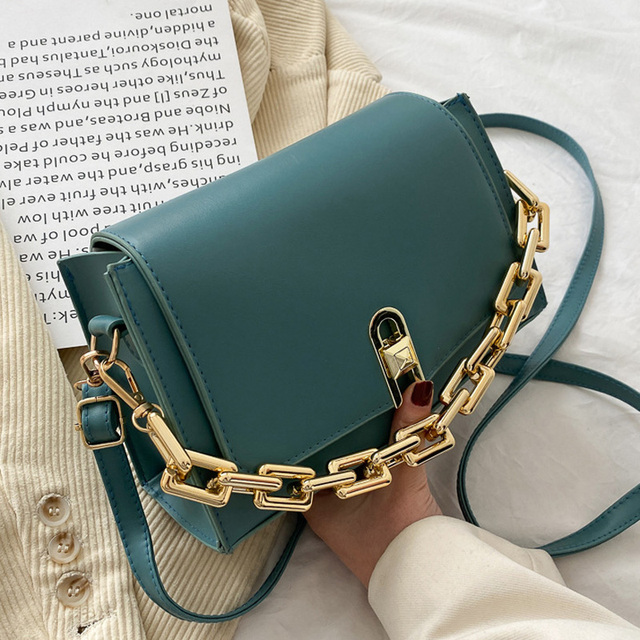 Designer Leather Crossbody Bags For Women Chain Strap