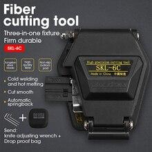 Siyah SKL 6C yüksek hassasiyetli Fiber Cleaver FTTH sıcak eriyik soğuk bağlantı optik Fiber kablo kesme bıçağı araçları 16 yüz bıçak