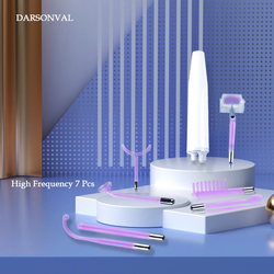 Портативный высокочастотный прибор для ухода за кожей DARSONVAL, фиолетовый светильник, массажер для лица, средство для удаления прыщей и пятен,...